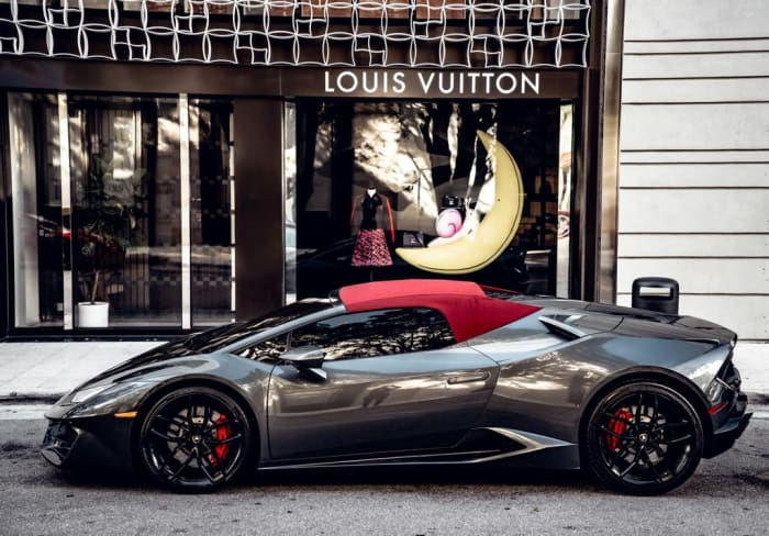 Image #1 of our 2018 Lamborghini Huracan Spyder (Convertible) (Dark Gray) In Miami Fort Lauderdale Palm Beach South Florida