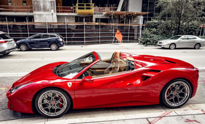 Image #1 of our 2021 Ferrari 488 Spyder (Convertible) (Red) In Miami Fort Lauderdale Palm Beach South Florida