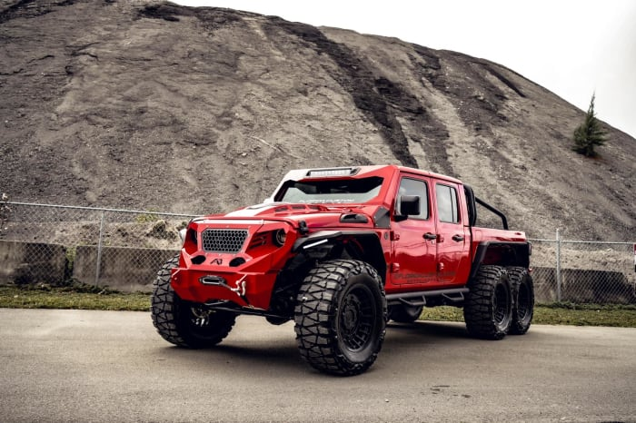Image #0 of our 2018 Custom Jeep Gladiator 6x6 (Red) In Miami Fort Lauderdale Palm Beach South Florida