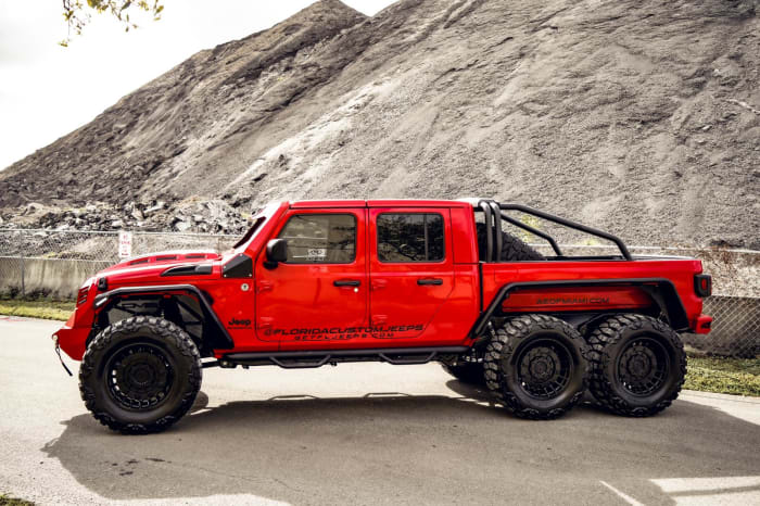 Image #2 of our 2018 Custom Jeep Gladiator 6x6 (Red) In Miami Fort Lauderdale Palm Beach South Florida