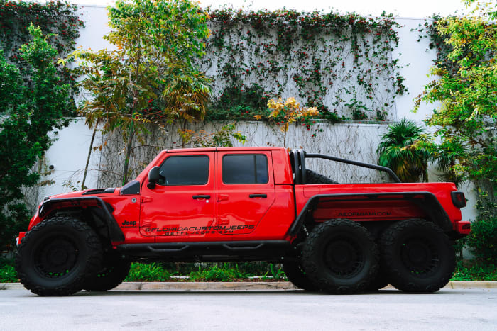 Image #4 of our 2018 Custom Jeep Gladiator 6x6 (Red) In Miami Fort Lauderdale Palm Beach South Florida