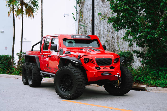 Image #5 of our 2018 Custom Jeep Gladiator 6x6 (Red) In Miami Fort Lauderdale Palm Beach South Florida