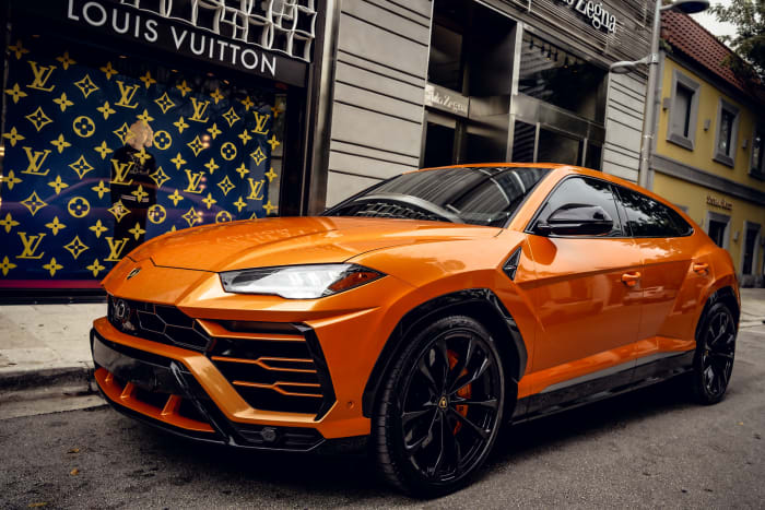 Image #4 of our 2021 Lamborghini Urus Starlight (Orange) In Miami Fort Lauderdale Palm Beach South Florida