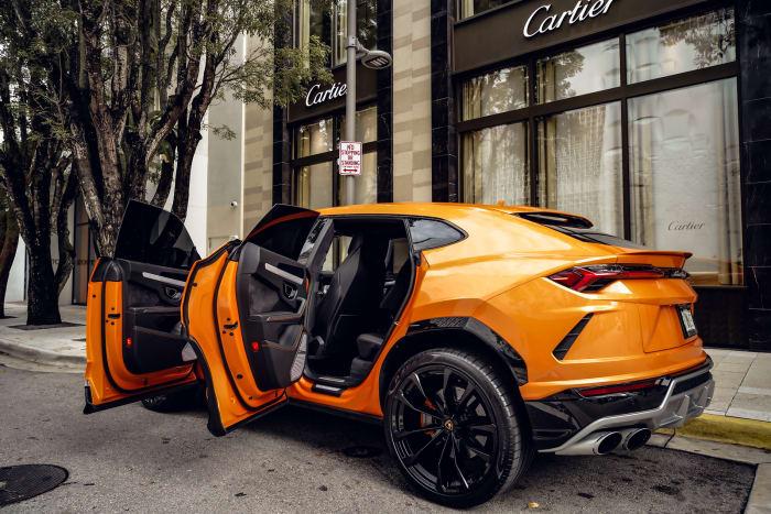 Image #7 of our 2021 Lamborghini Urus Starlight (Orange) In Miami Fort Lauderdale Palm Beach South Florida