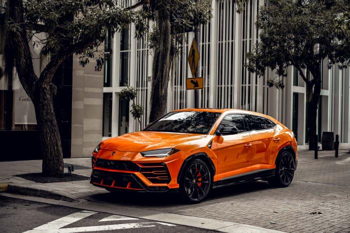 Image #3 of our 2021 Lamborghini Urus Starlight (Orange) In Miami Fort Lauderdale Palm Beach South Florida