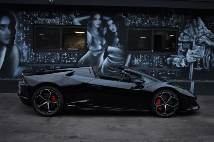 Image #2 of our 2021 Lamborghini Huracan EVO Spyder (Convertible) (Black) In Miami Fort Lauderdale Palm Beach South Florida