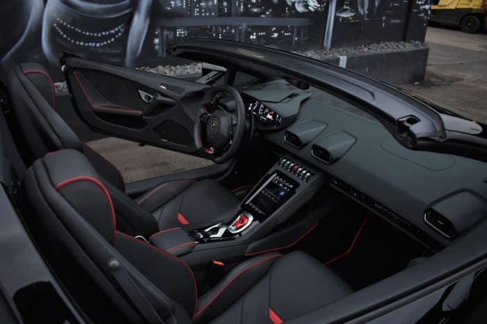 Image #1 of our 2021 Lamborghini Huracan EVO Spyder (Convertible) (Black) In Miami Fort Lauderdale Palm Beach South Florida