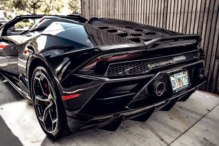 Image #4 of our 2021 Lamborghini Huracan EVO Spyder (Convertible) (Black) In Miami Fort Lauderdale Palm Beach South Florida
