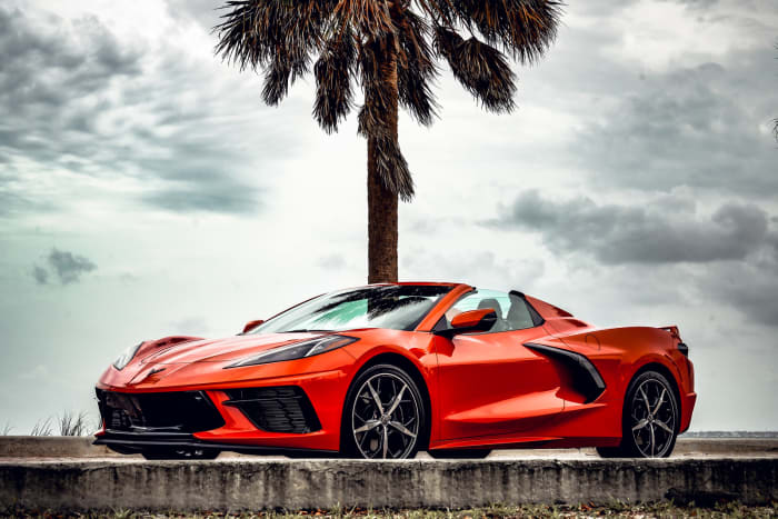 Image #0 of our 2021 Chevrolet Corvette C8 Convertible (Orange) In Miami Fort Lauderdale Palm Beach South Florida