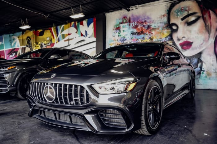 Image #3 of our 2020 Mercedes Benz GT63S AMG Starlight (Dark Gray) In Miami Fort Lauderdale Palm Beach South Florida