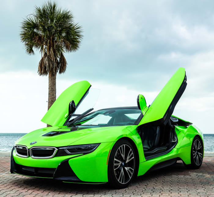 Image #0 of our 218 BMW I8  (Neon Green) In Miami Fort Lauderdale Palm Beach South Florida