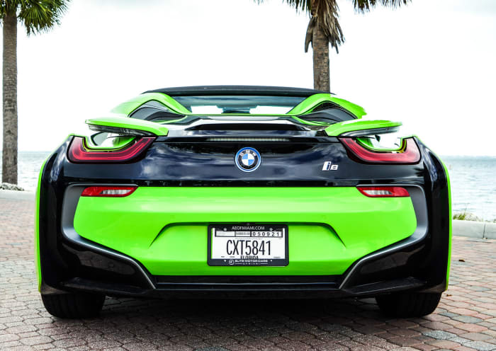 Image #1 of our 218 BMW I8  (Neon Green) In Miami Fort Lauderdale Palm Beach South Florida