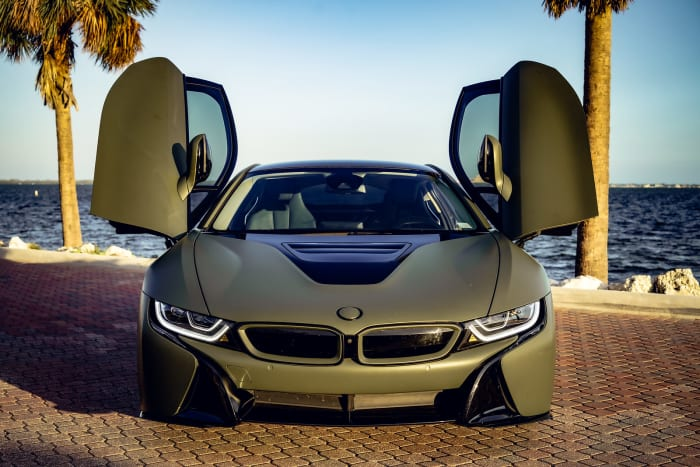 Image #0 of our 2018 BMW I8  (Army Green) In Miami Fort Lauderdale Palm Beach South Florida