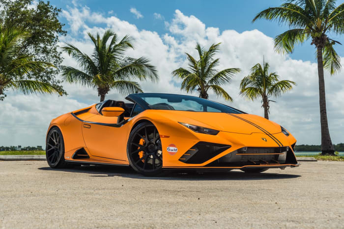 Image #0 of our 2022 Lamborghini Huracan EVO  (Orange) In Miami Fort Lauderdale Palm Beach South Florida