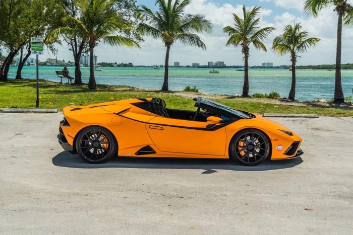 Image #12 of our 2022 Lamborghini Huracan EVO  (Orange) In Miami Fort Lauderdale Palm Beach South Florida