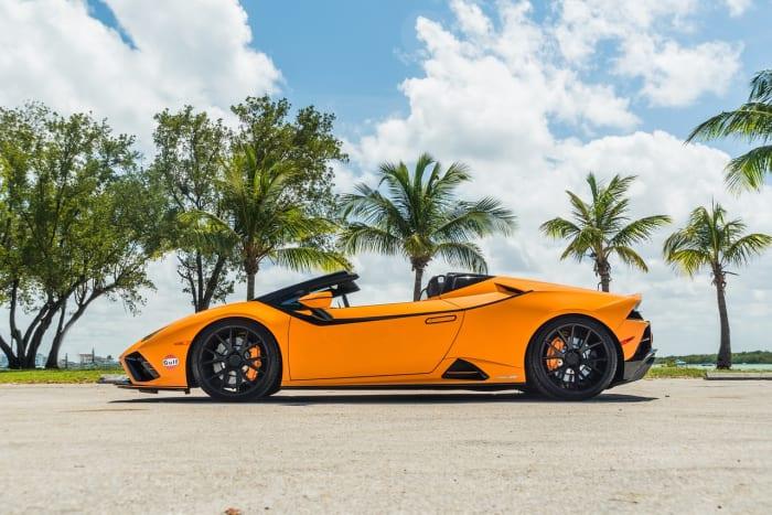 Image #4 of our 2022 Lamborghini Huracan EVO  (Orange) In Miami Fort Lauderdale Palm Beach South Florida