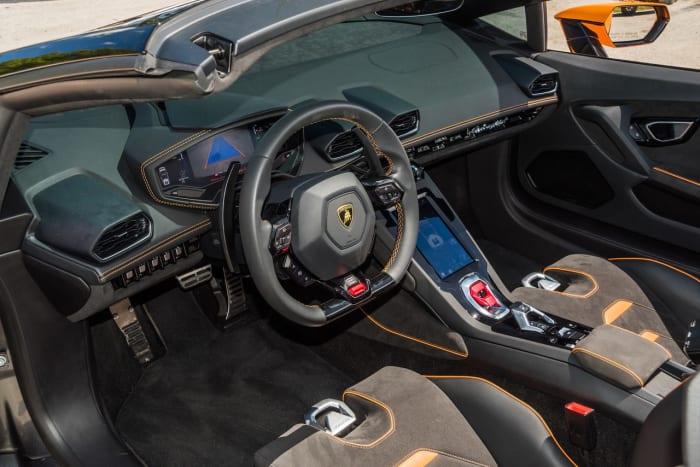 Image #1 of our 2022 Lamborghini Huracan EVO  (Orange) In Miami Fort Lauderdale Palm Beach South Florida