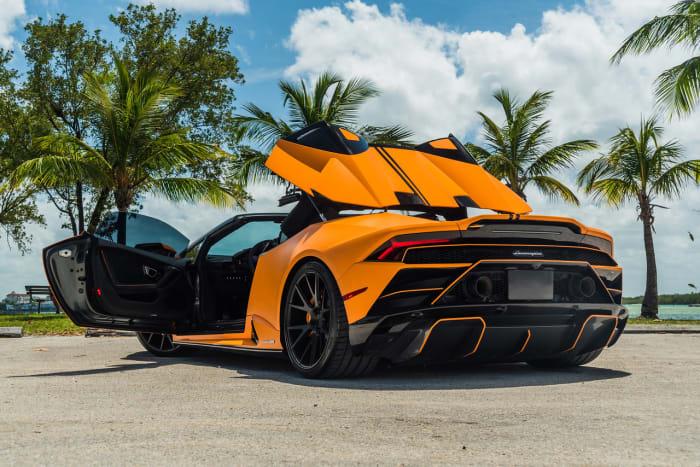 Image #19 of our 2022 Lamborghini Huracan EVO  (Orange) In Miami Fort Lauderdale Palm Beach South Florida