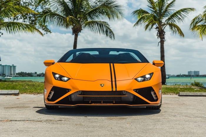 Image #5 of our 2022 Lamborghini Huracan EVO  (Orange) In Miami Fort Lauderdale Palm Beach South Florida