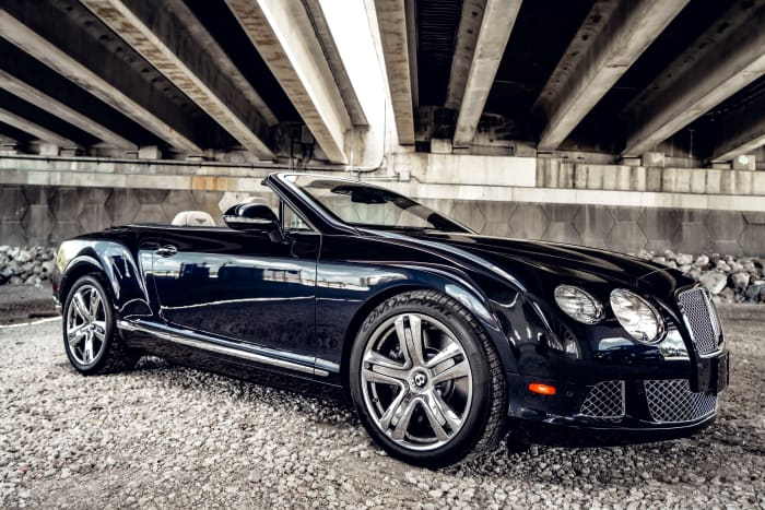 Image #1 of our 2018 Bentley Continental GTC (Convertible) (Dark Blue) In Miami Fort Lauderdale Palm Beach South Florida