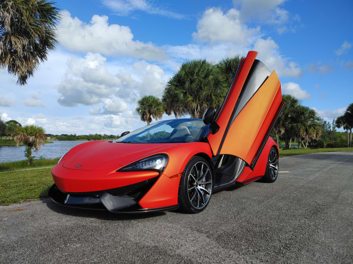 Image #1 of our 2019 McLaren 570s Spyder (Convertible) (Orange) In Miami Fort Lauderdale Palm Beach South Florida
