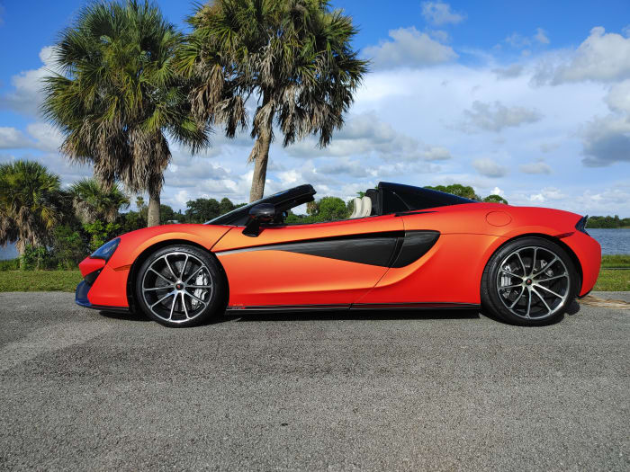 Image #5 of our 2019 McLaren 570s Spyder (Convertible) (Orange) In Miami Fort Lauderdale Palm Beach South Florida