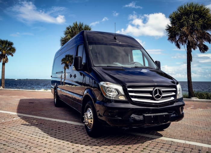 Image #0 of our 2021 Mercedes Benz Sprinter Party Van (Black) In Miami Fort Lauderdale Palm Beach South Florida