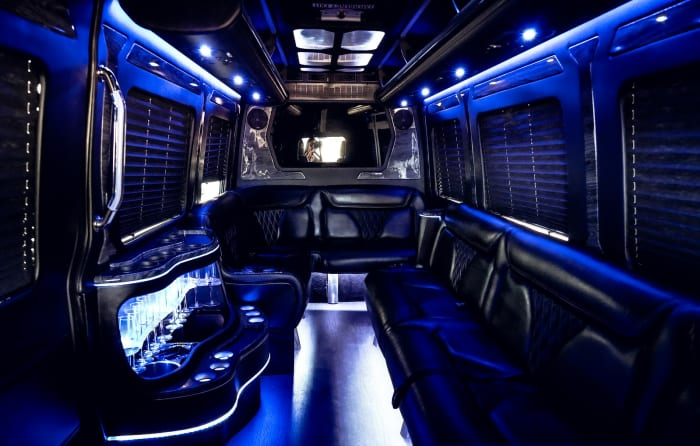 Image #4 of our 2021 Mercedes Benz Sprinter Party Van (Black) In Miami Fort Lauderdale Palm Beach South Florida