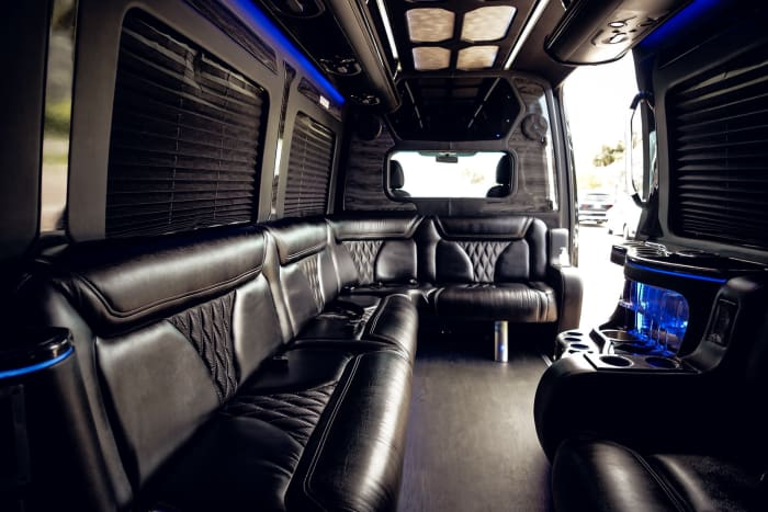 Image #3 of our 2021 Mercedes Benz Sprinter Party Van (Black) In Miami Fort Lauderdale Palm Beach South Florida