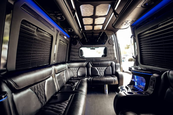 Image #6 of our 2021 Mercedes Benz Sprinter Party Van (Black) In Miami Fort Lauderdale Palm Beach South Florida