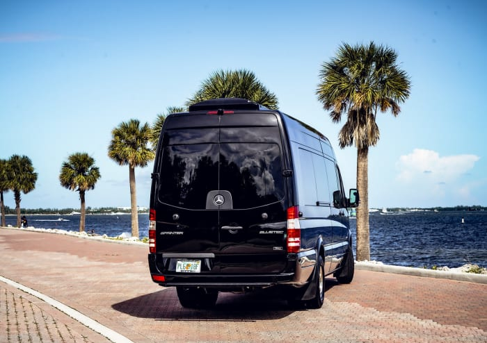 Image #2 of our 2021 Mercedes Benz Sprinter Party Van (Black) In Miami Fort Lauderdale Palm Beach South Florida
