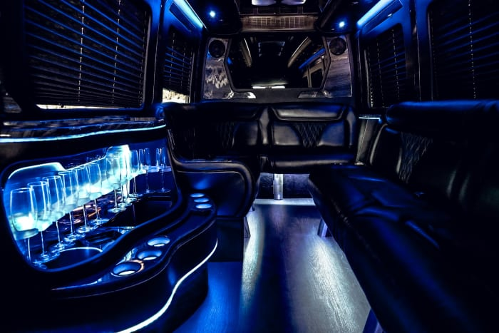 Image #5 of our 2021 Mercedes Benz Sprinter Party Van (Black) In Miami Fort Lauderdale Palm Beach South Florida
