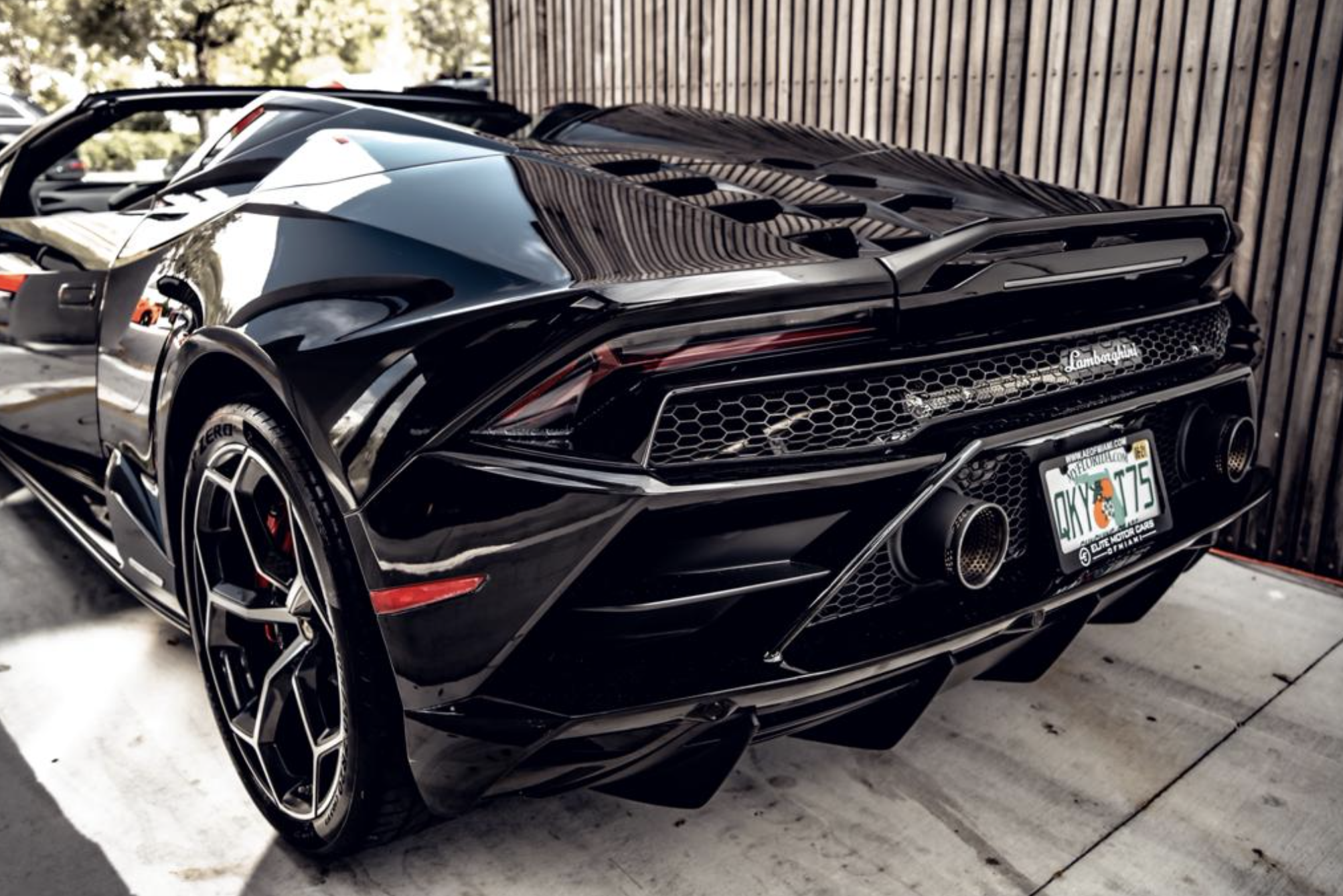 Image #5 of our  LAMBORGHINI HURACAN EVO SPYDER BLACK    In Miami Fort Lauderdale Palm Beach South Florida
