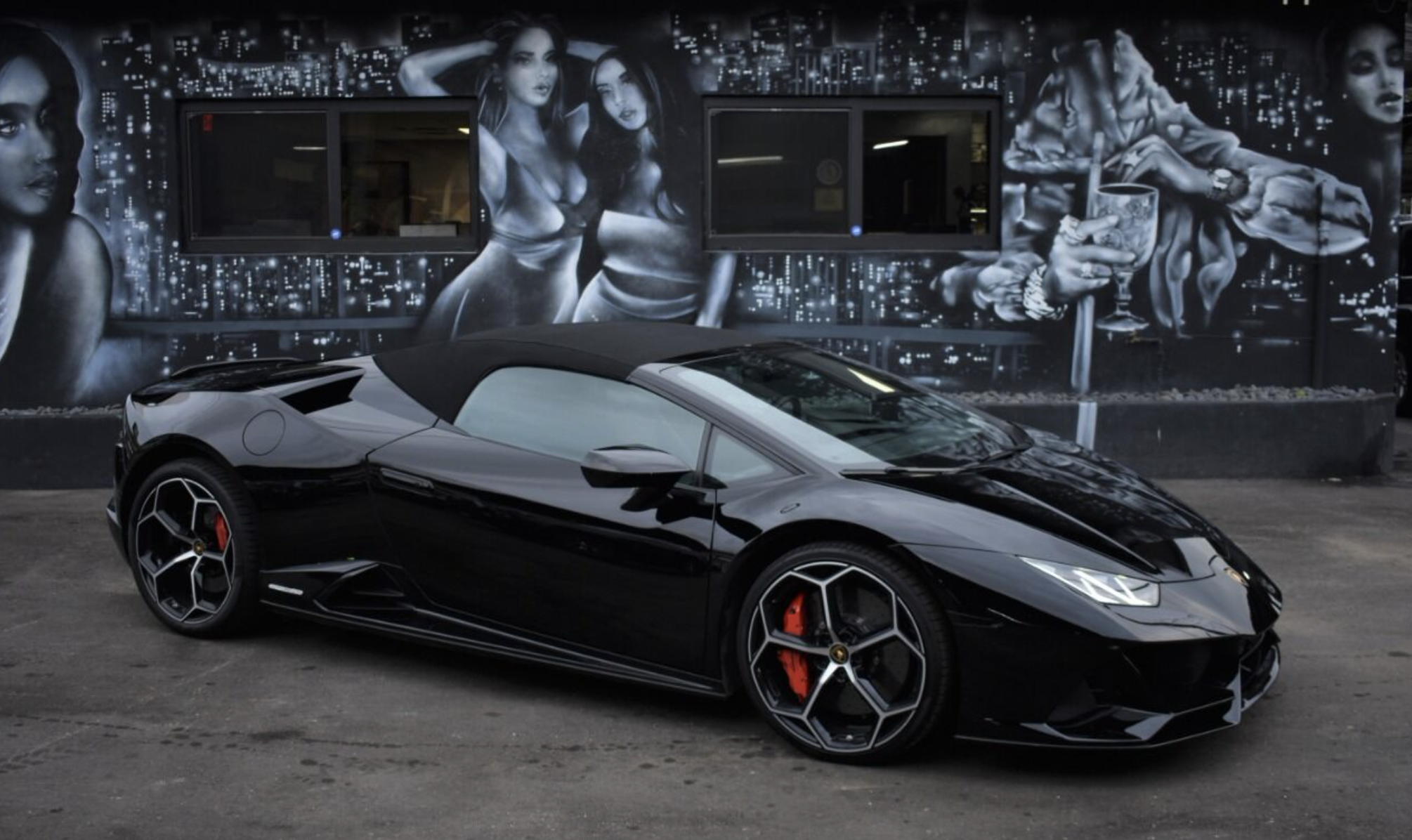 Image #6 of our  LAMBORGHINI HURACAN EVO SPYDER BLACK    In Miami Fort Lauderdale Palm Beach South Florida