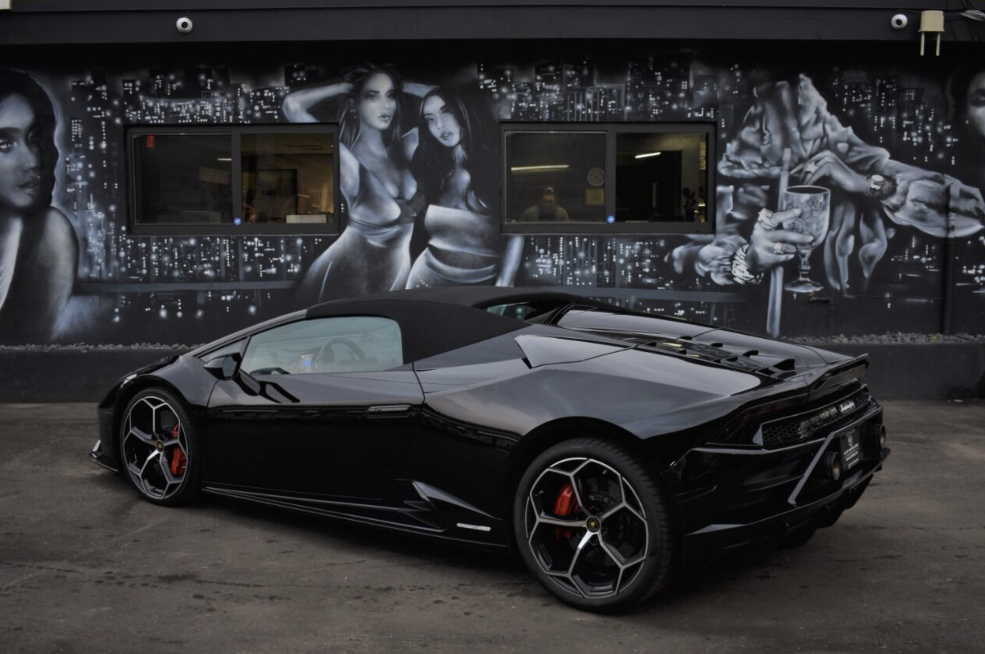 Image #8 of our  LAMBORGHINI HURACAN EVO SPYDER BLACK    In Miami Fort Lauderdale Palm Beach South Florida