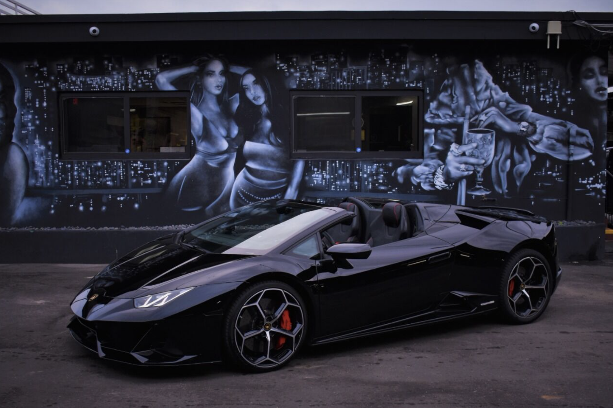 Image #9 of our  LAMBORGHINI HURACAN EVO SPYDER BLACK    In Miami Fort Lauderdale Palm Beach South Florida
