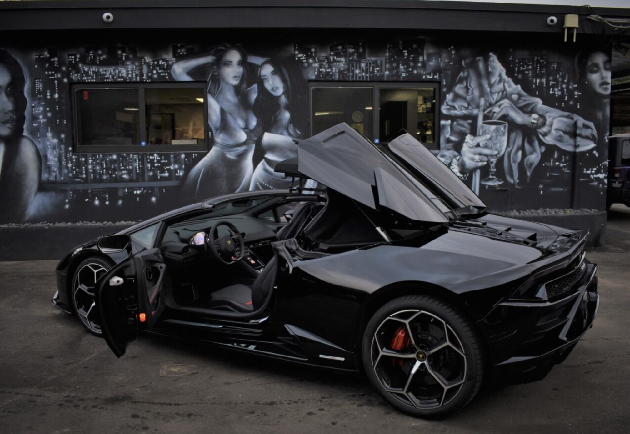 Image #10 of our  LAMBORGHINI HURACAN EVO SPYDER BLACK    In Miami Fort Lauderdale Palm Beach South Florida