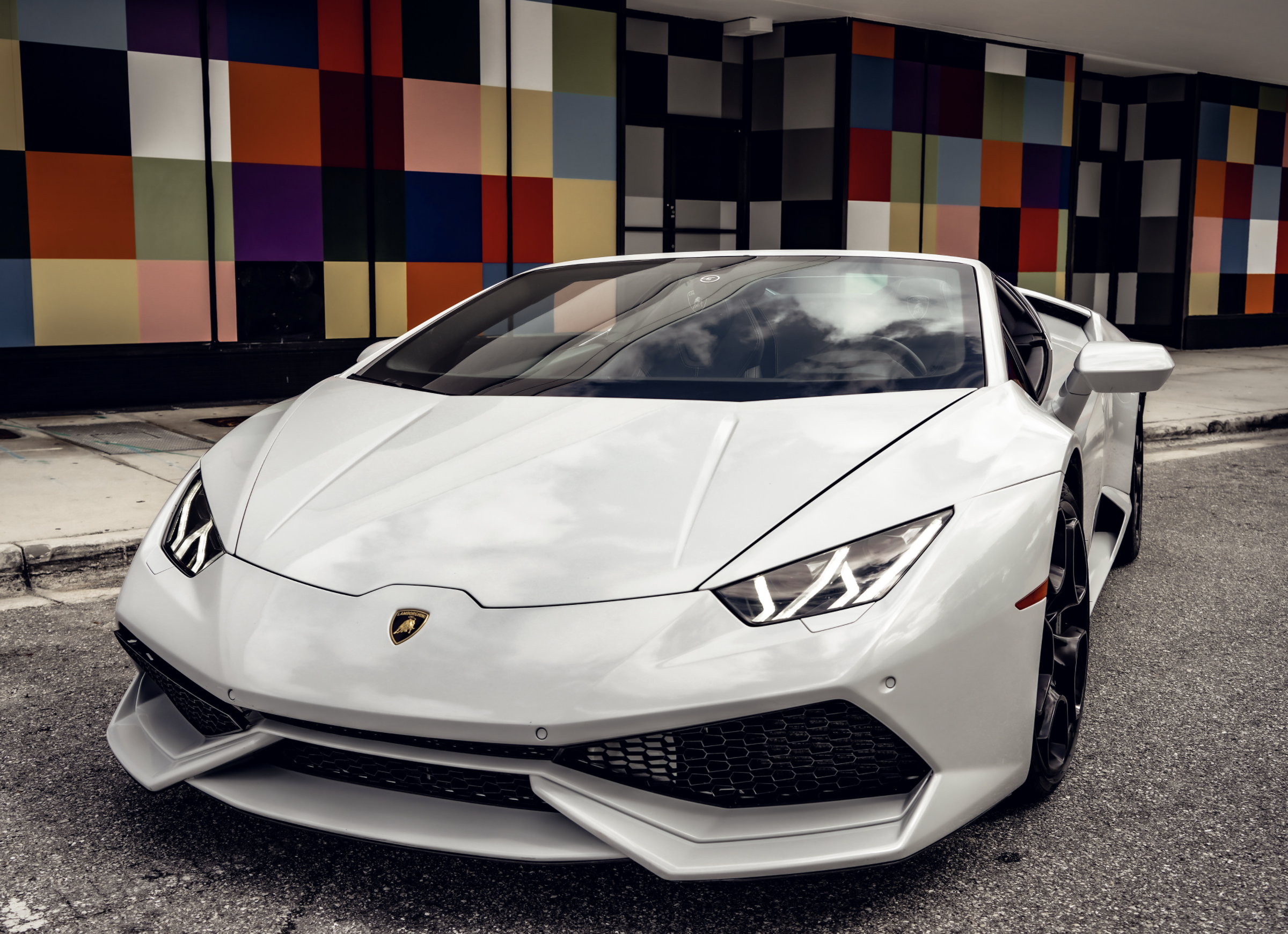 Image #1 of our  LAMBORGHINI HURACAN WHITE    In Miami Fort Lauderdale Palm Beach South Florida