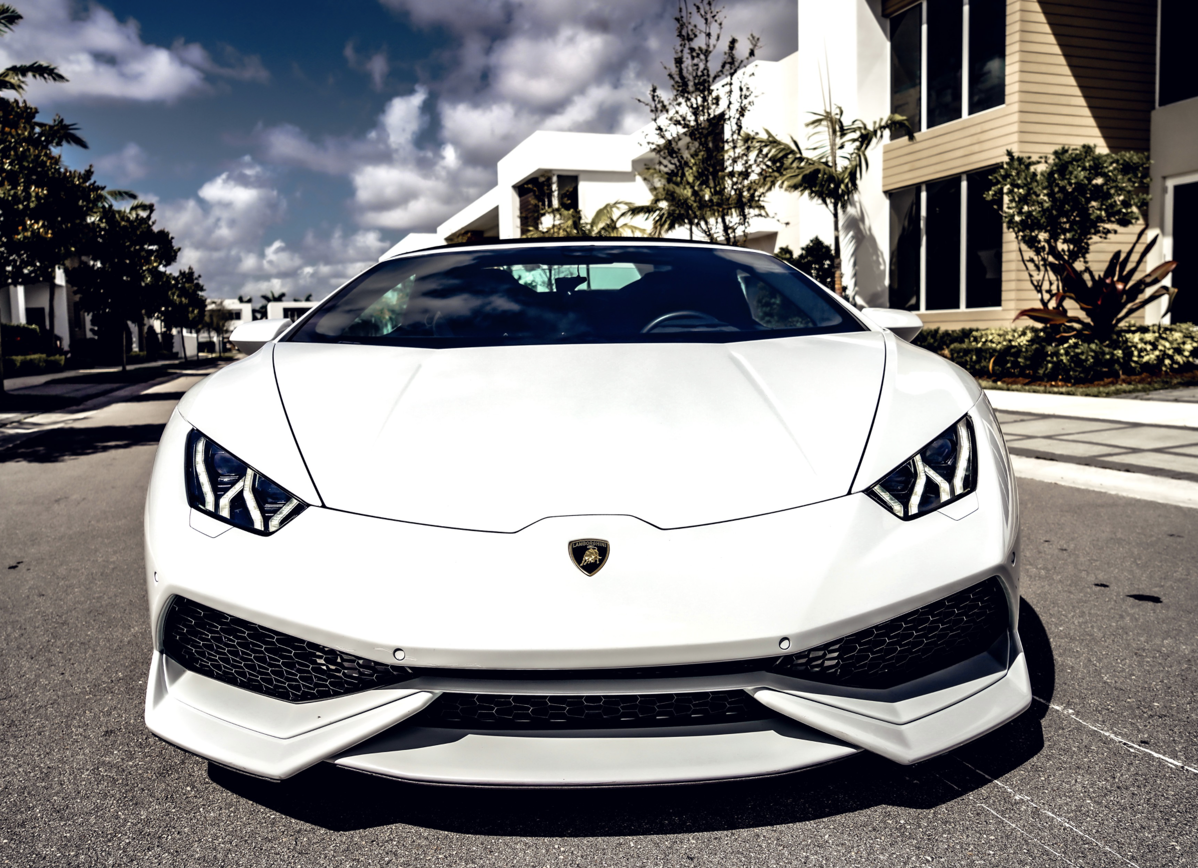 Image #2 of our  LAMBORGHINI HURACAN WHITE    In Miami Fort Lauderdale Palm Beach South Florida