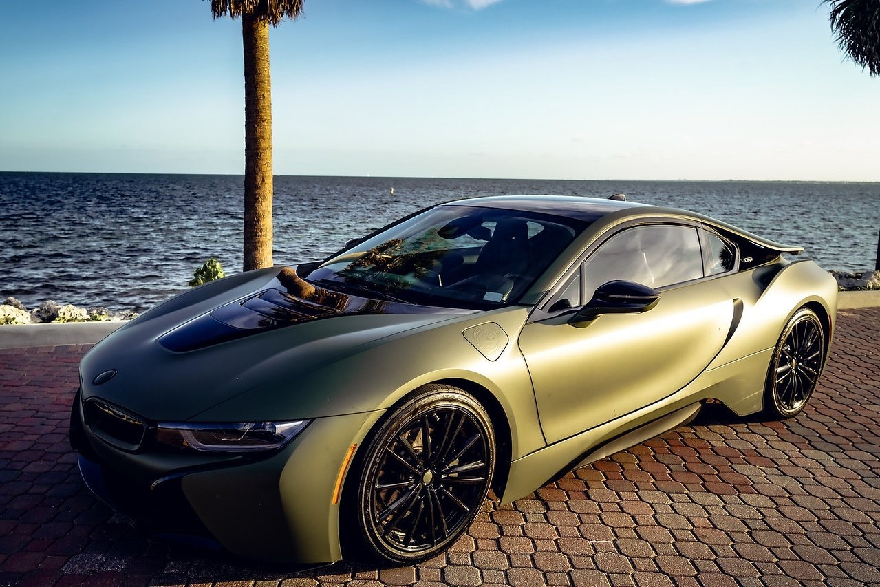 Image #1 of our  BMW I8 COUPE (DARK GREEN) 2019    In Miami Fort Lauderdale Palm Beach South Florida