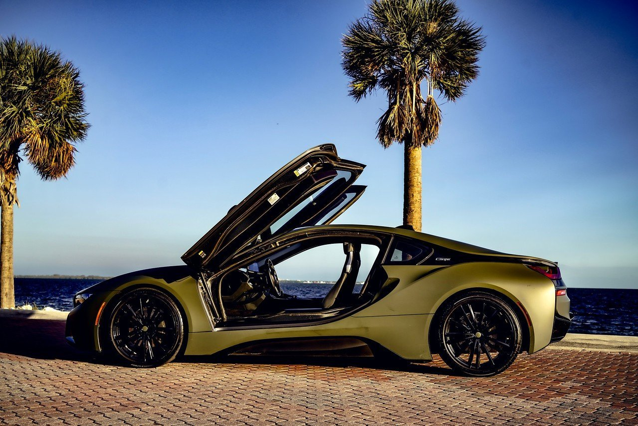 Image #4 of our  BMW I8 COUPE (DARK GREEN) 2019    In Miami Fort Lauderdale Palm Beach South Florida