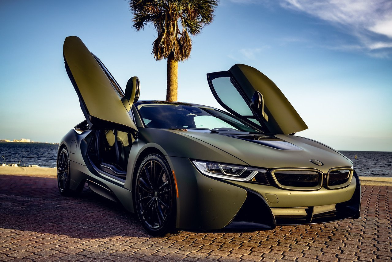 Image #9 of our  BMW I8 COUPE (DARK GREEN) 2019    In Miami Fort Lauderdale Palm Beach South Florida