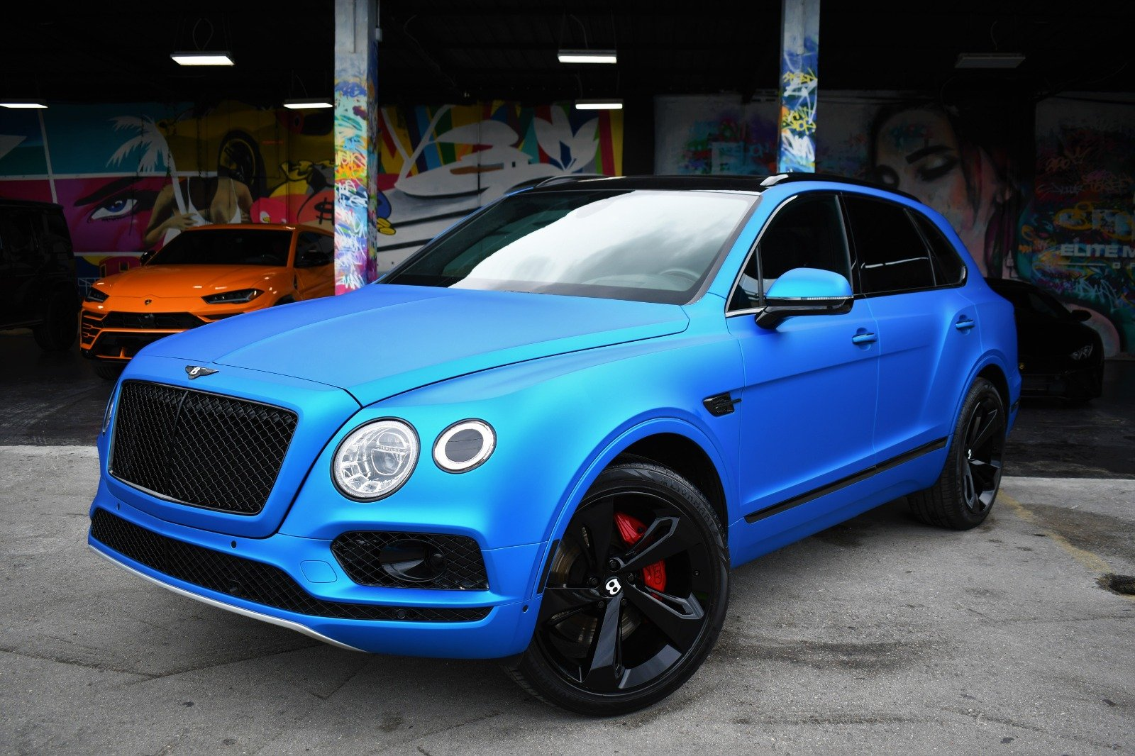 Image #0 of our  BENTLEY BENTAYGA BLUE    In Miami Fort Lauderdale Palm Beach South Florida
