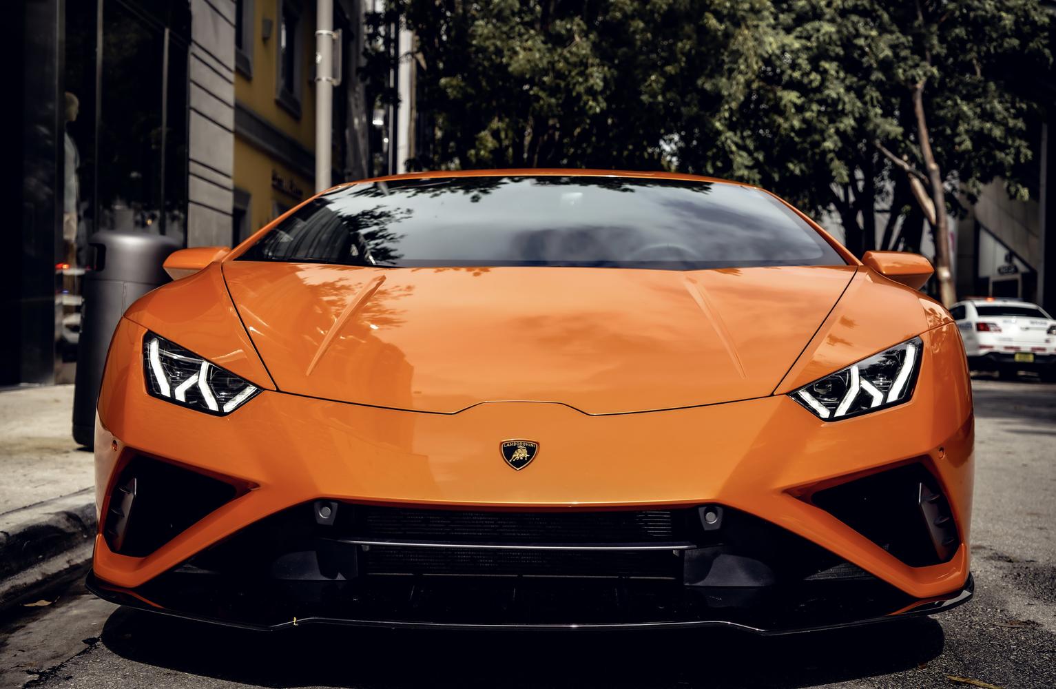 Image #0 of our  Lamborghini Huracan EVO Orange Coupe    In Miami Fort Lauderdale Palm Beach South Florida