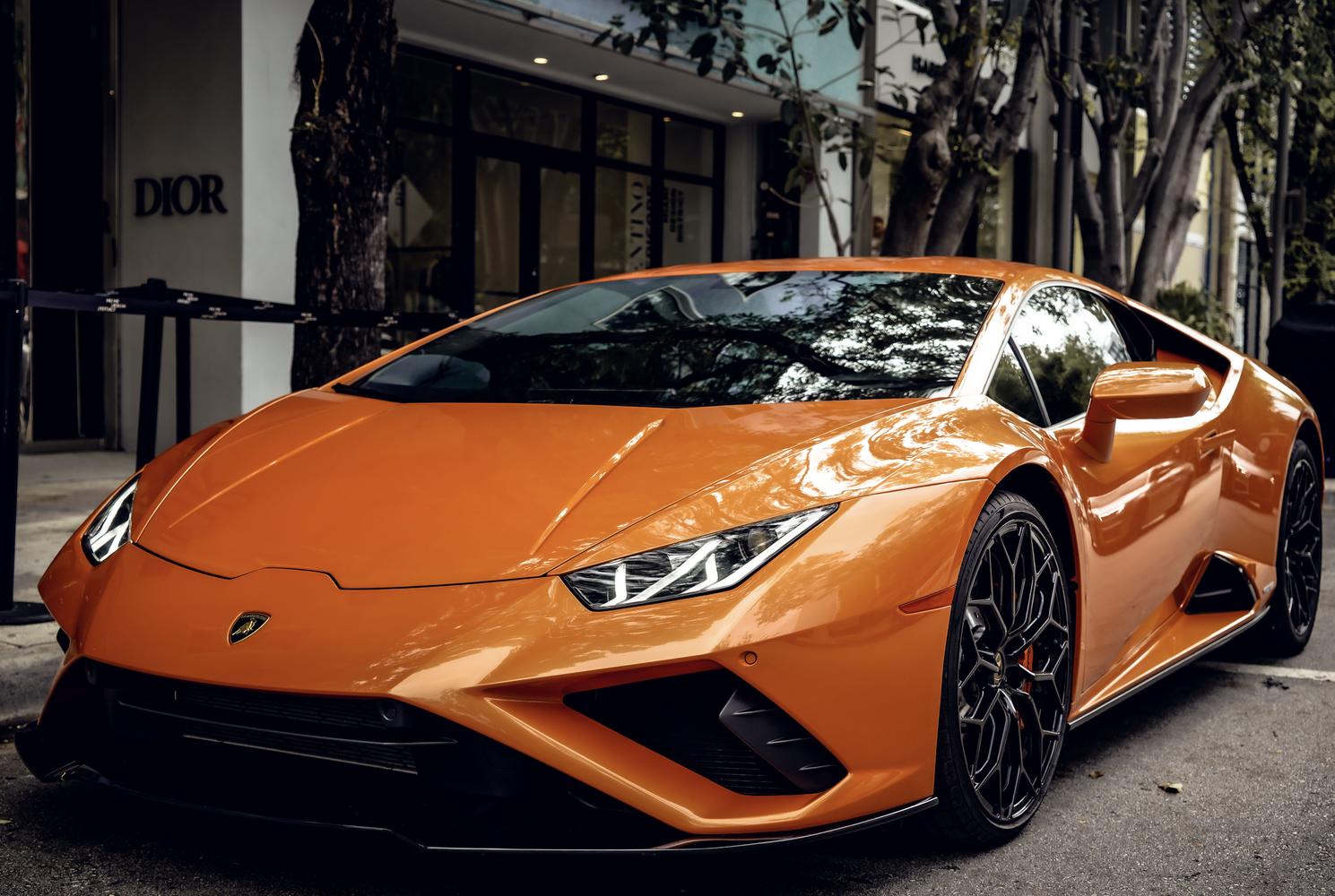 Image #3 of our  Lamborghini Huracan EVO Orange Coupe    In Miami Fort Lauderdale Palm Beach South Florida