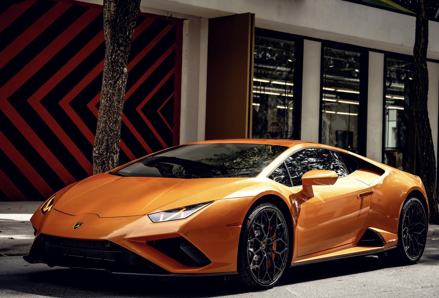 Image #4 of our  Lamborghini Huracan EVO Orange Coupe    In Miami Fort Lauderdale Palm Beach South Florida