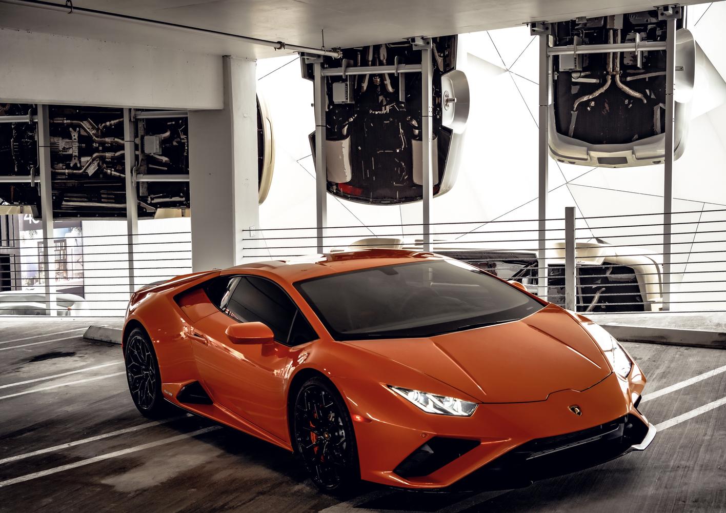 Image #5 of our  Lamborghini Huracan EVO Orange Coupe    In Miami Fort Lauderdale Palm Beach South Florida