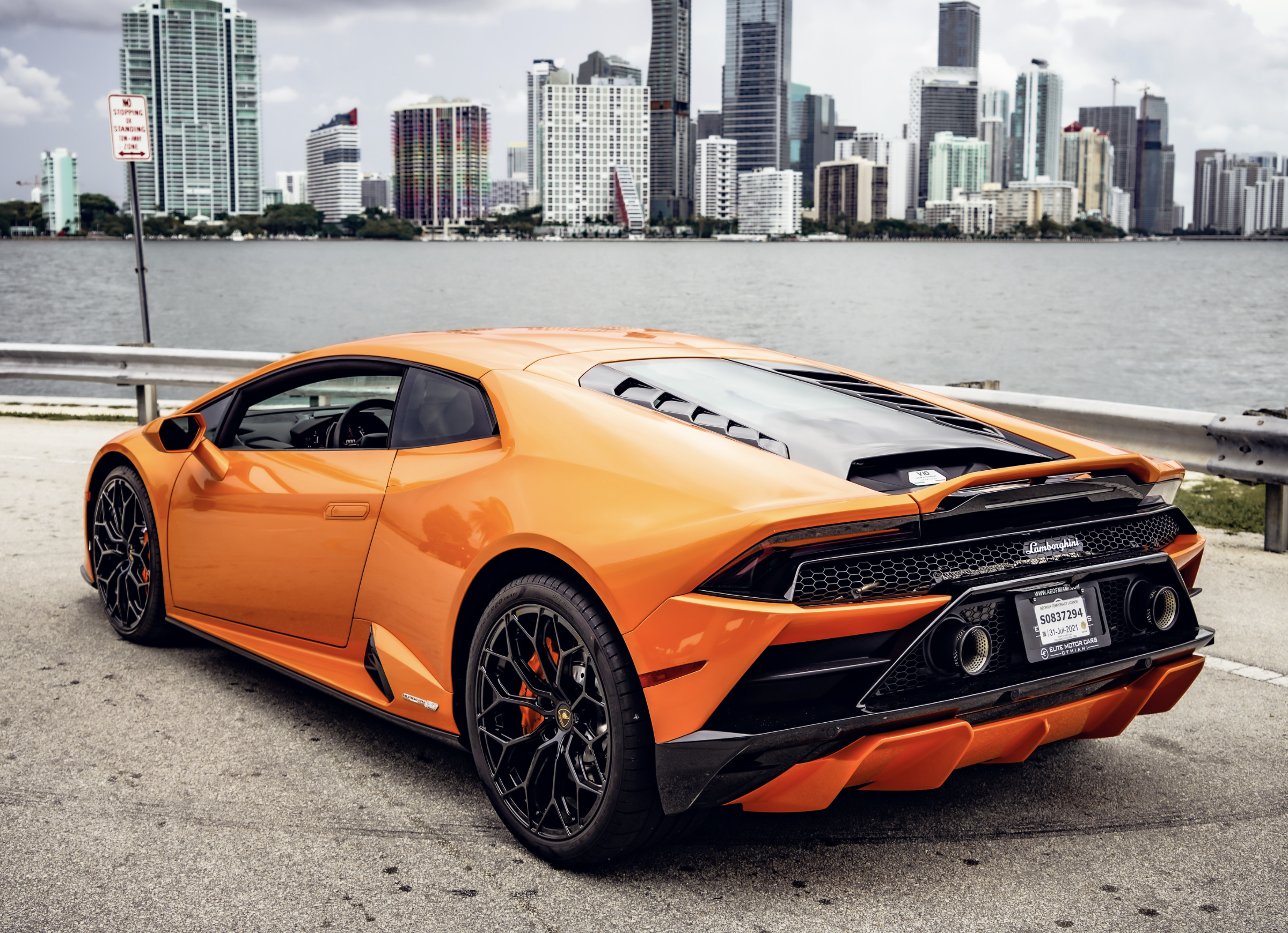 Image #12 of our  Lamborghini Huracan EVO Orange Coupe    In Miami Fort Lauderdale Palm Beach South Florida