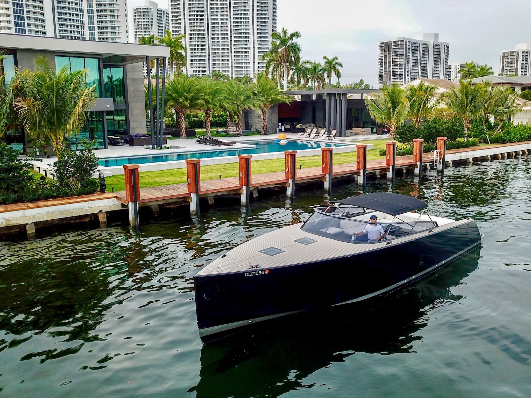 Image #0 of our  40′ VANDUTCH BLACK   () In Miami Fort Lauderdale Palm Beach South Florida