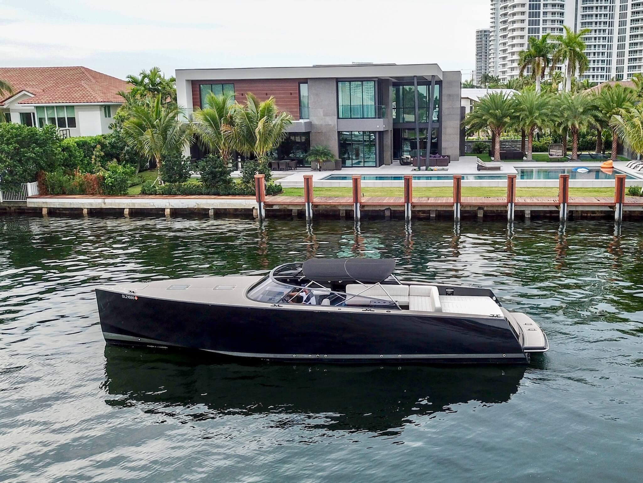 Image #1 of our  40′ VANDUTCH BLACK   () In Miami Fort Lauderdale Palm Beach South Florida